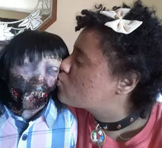 Young woman plans to marry her zombie doll