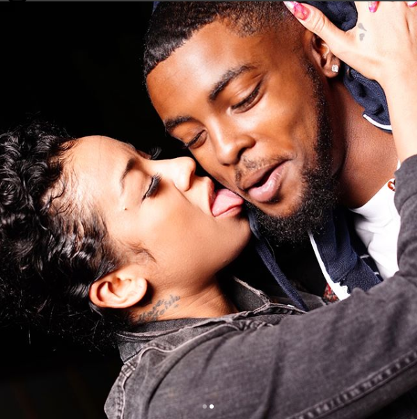 Keyshia Cole, 36, ?licks her 22-year-old boyfriend
