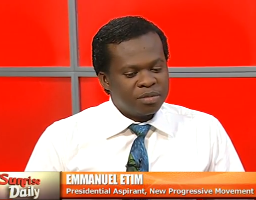 Meet one of the presidential aspirants to contest against president Buhari in 2019, Emmanuel Etim