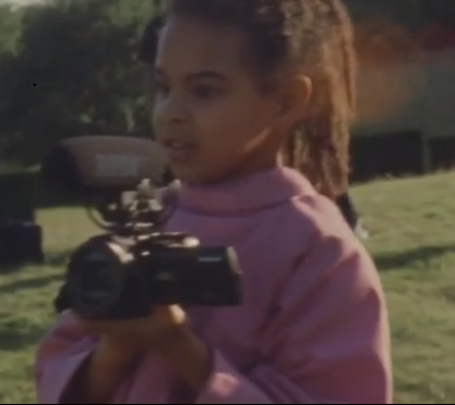 Behind-the-scenes video of Beyonce