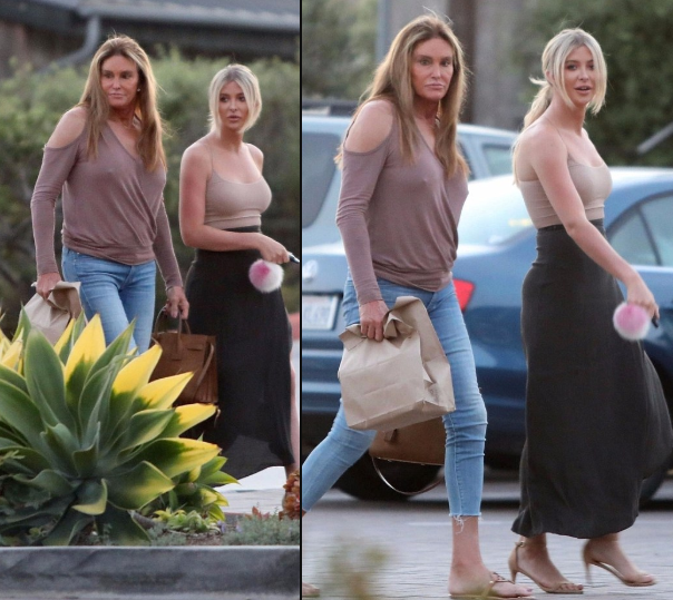 Braless Caitlyn Jenner, 68, flashes her nipples as she steps out with her 22-year-old rumored girlfriend Sophia Hutchins in Malibu ?(Photos)