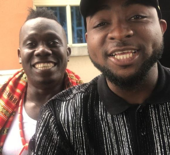 Social media explodes as Duncan Mighty, 34, attempts to prostrate for Davido, 25, in new video?