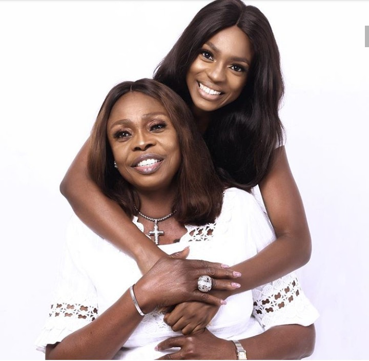 Beverly Osu celebrates her mum with photo of them together