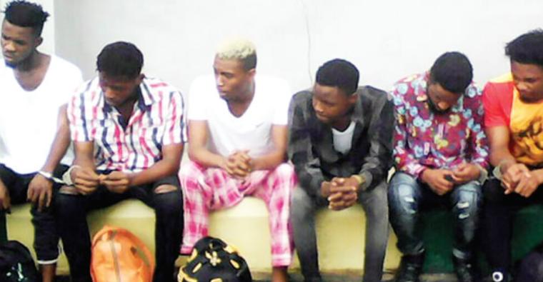 Police parade six suspected homosexuals in Abia