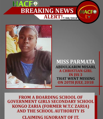 Girl abducted from her boarding school and forcefully converted to Islam regains freedom (photos)