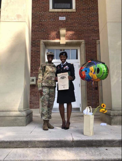 Proud Nigerian mother whose daughter just became a Major in the U.S army recounts how she taught her discipline by disgracing her in school