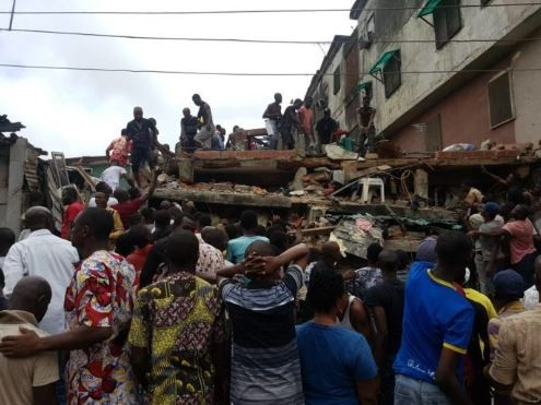 One dead and several others trapped as three storey shopping complex building collapse?in Abuja (Photos)