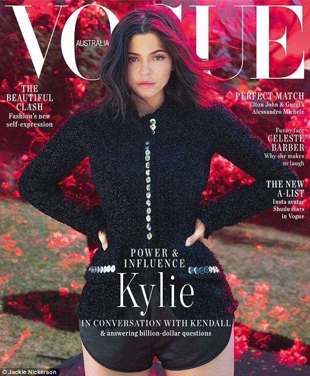 ?Having a daughter has made me love myself more and accept everything about me? - Kylie Jenner says as she covers Vogue Australia