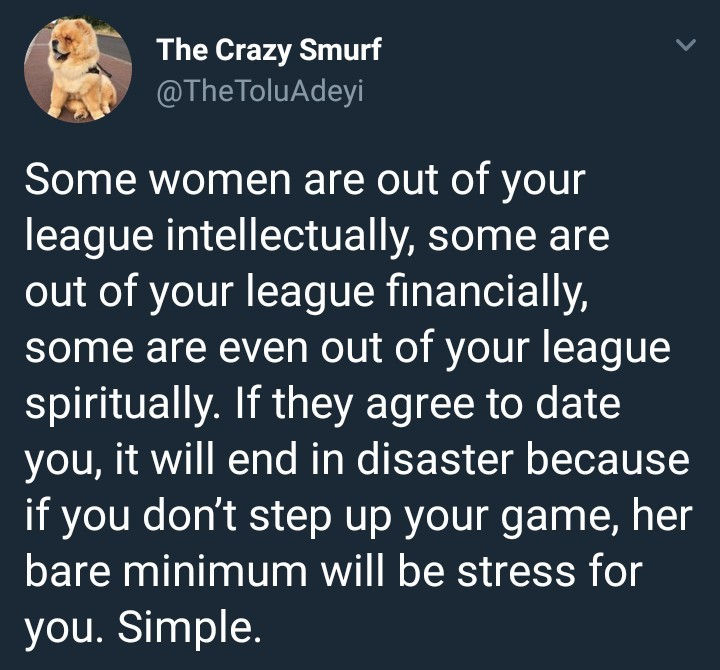 Dating a woman who is out of your league will end in disaster if you don