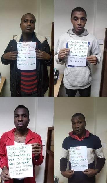 19 Nigerian men arrested  in Nairobi for allegedly engaging in electronic fraud targeting Kenyans (photos)