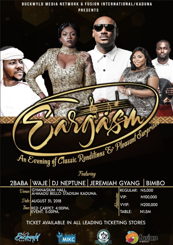 2Baba, Waje, Jeremiah Gyang, to delight Kaduna residents with eargasm