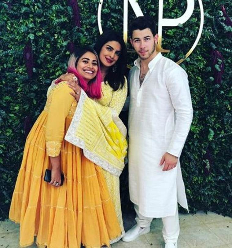 Photos from the engagement ceremony of actress Priyanka Chopra, 36 and singer Nick Jonas, 25 in India?