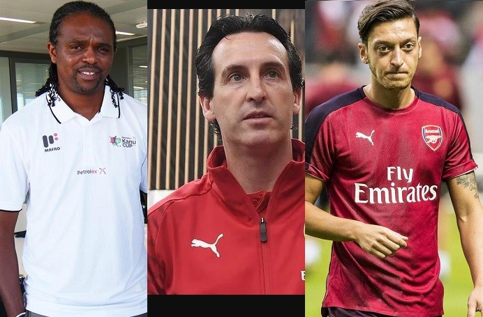 Arsenal legend Nwankwo Kanu slams coach Unai Emery over his criticims towards Mesut Ozil