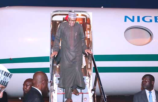 Photos: President Buhari returns from London vacation