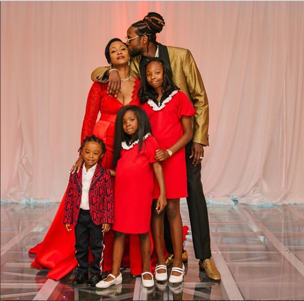Newly married rapper, 2 Chainz shares adorable family photo with his new wife and kids