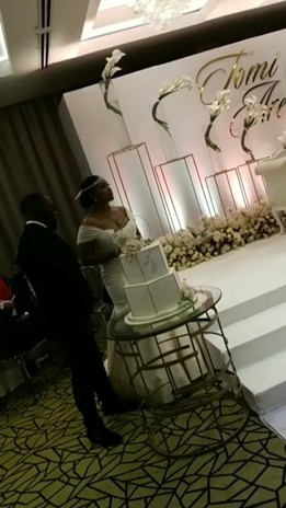 Governor Fayose's daughter Tomi weds her fiancé, Arewa Odunlade in an intimate indoor ceremony (photos)