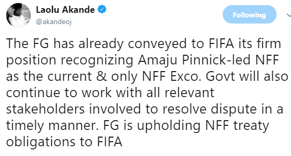 Presidency declares Amaju Pinnick NFF chairman