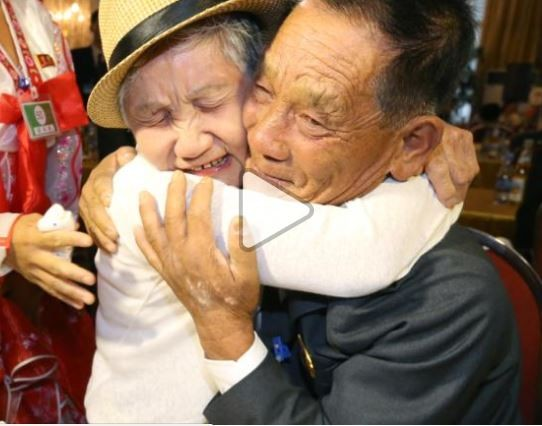 92-year-old woman reunites with her 72 year old son after getting separated 68 years ago when the Korean War broke out