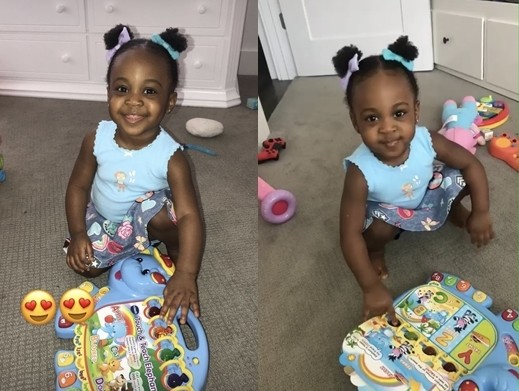 WOW PHOTOS !!!: SEE Adorable photos of Davido's second daughter, Hailey Adeleke
