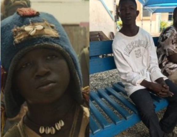 """Young Ghanaian actor,?Emmanuel?Quaye who featured as """"Strika"""" in """"Beast of No Nations"""" alongside Idris Elba spotted begging on the streets"""