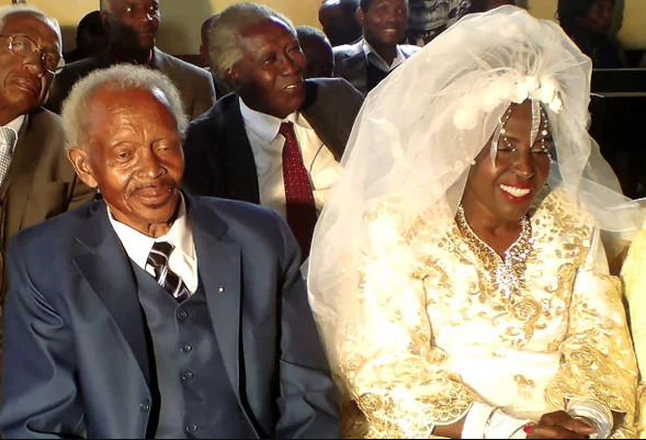 Woman weds for the first time at age 60
