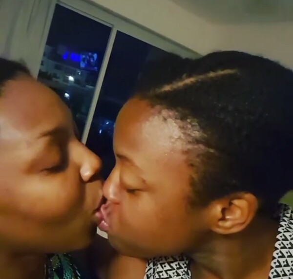 Video: Nigerian Air hostess and her girlfriend share passionate kiss on Instagram
