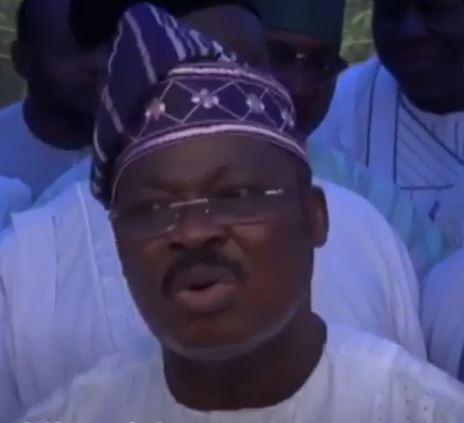 Governor Ajimobi confirms giving the order to demolish Yinka Ayefele