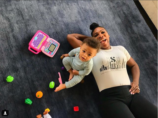 Adorable new photo of Serena Williams and her daughter Olympia