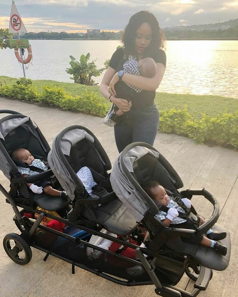 """God bless the day I found you"" FFK tells his wife Precious as he shares adorable photos of her with their sons"