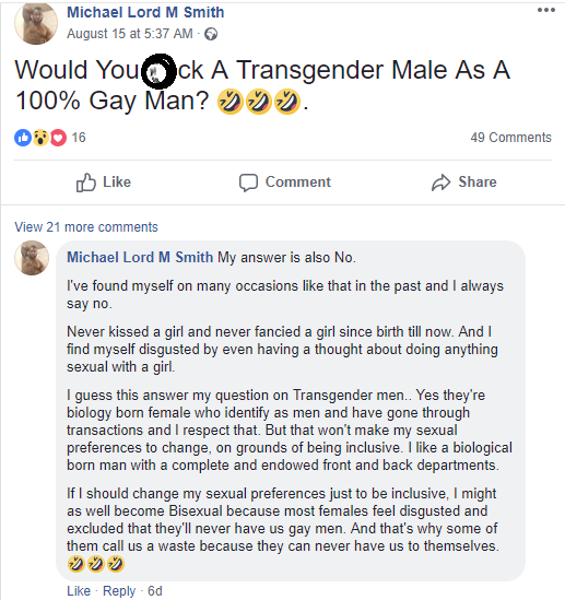 Micheal Smith,Nigerian author who just got married to his gay lover says he has never kissed a girl and is disgusted by the thought of doing anything sexual with a girl