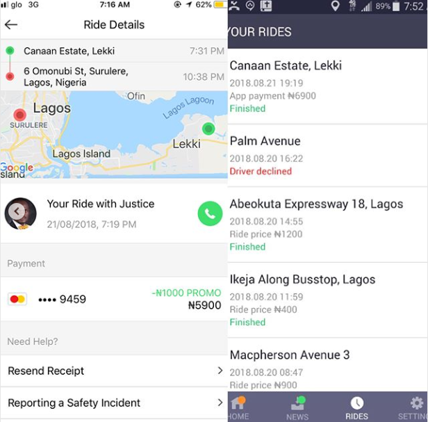 Lady accuses Taxify driver of theft and fraud and he gives his side of the story