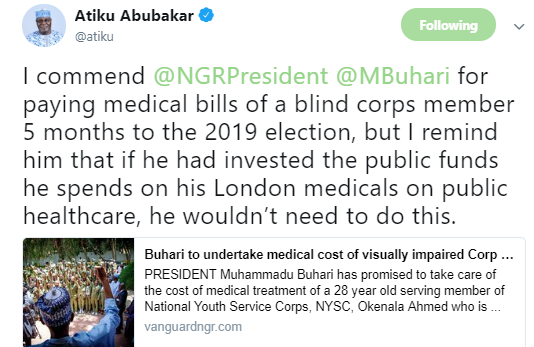 BREAKING !!!:  Again Atiku Abubakar fires shot at President Buhari