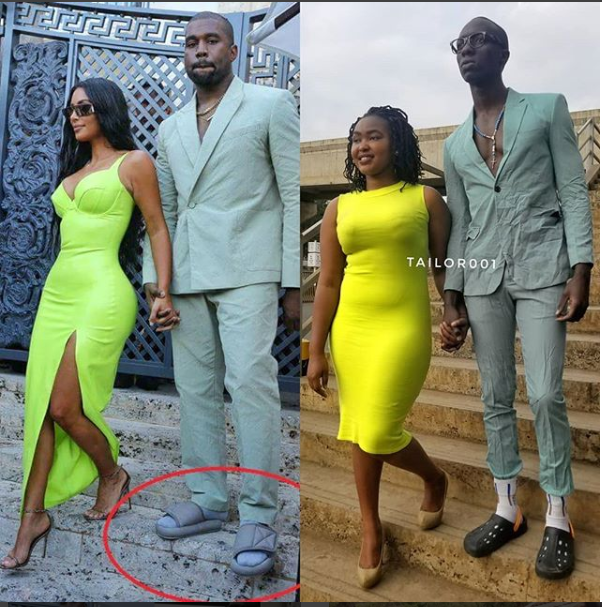 Kenyan tailor and his partner recreate Kanye West and Kim Kardashian