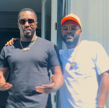 Falz meets up with Diddy in California, shares video of the rapper renaming himself