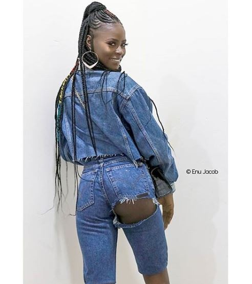 Ladies, would you rock this butt revealing jeans worn by Big Brother Naija