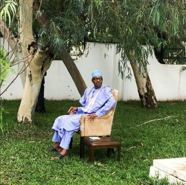 Caption this photo of President Buhari