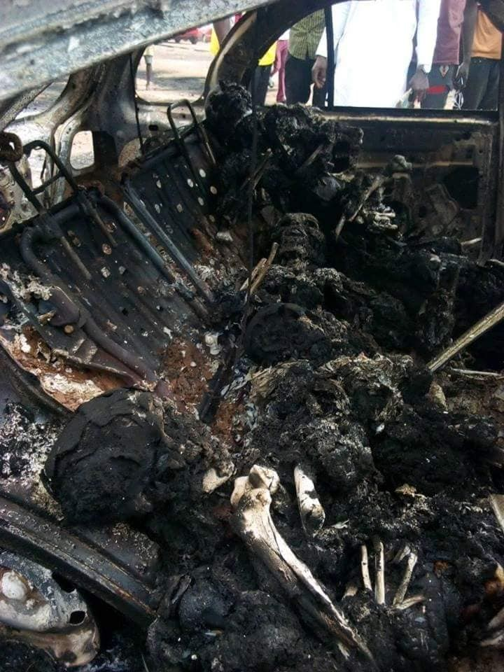 Fresh graduate preparing for NYSC, burnt to death in Kogi fatal accident (photos)