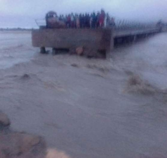 The bridge linking Gombe, Adamawa and?Borno States has been completely cut off (Photos)