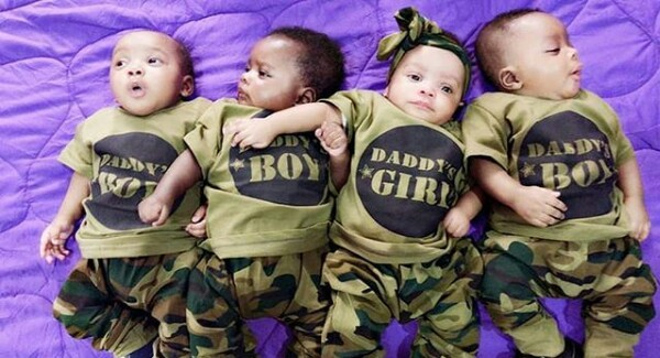 Beautiful photos of a Nigerian woman, her daughter, and  adorable quadruplets
