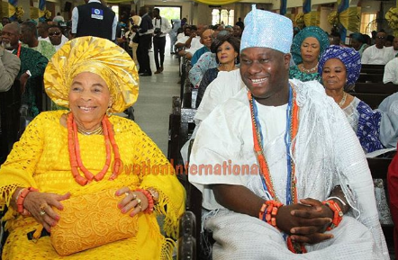 Billionaire businessman Tony Elumelu throws party to celebrate his mother