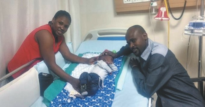 5-month old Nigerian baby gets new lease of life after successful open-heart surgery in India