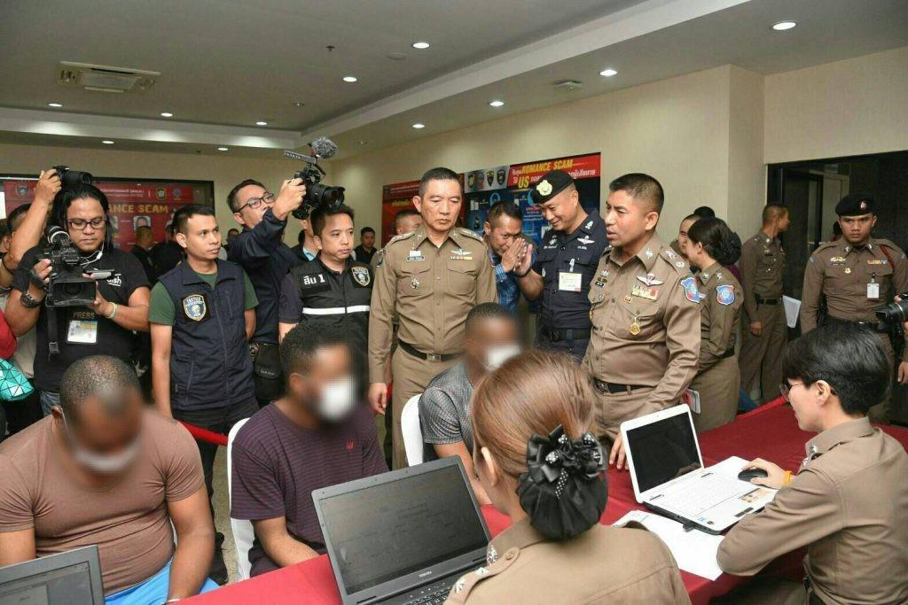 Three Nigerian men nabbed in Thailand for allegedly running romance scam