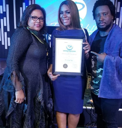United Nations Global Awards honors Linda Ikeji with the Global Leadership Award and invites her to speak at the UN next year