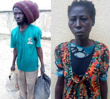 Photos: Police arrest two suspected ritualists, the 3rd one lynched by a mob