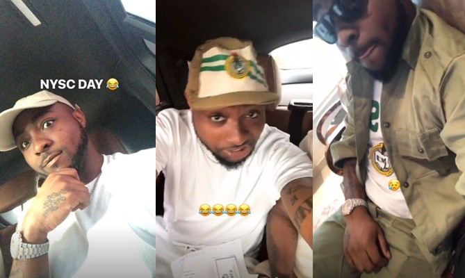 Photos!!! : Davido begins his National Youth Service Corps (NYSC)