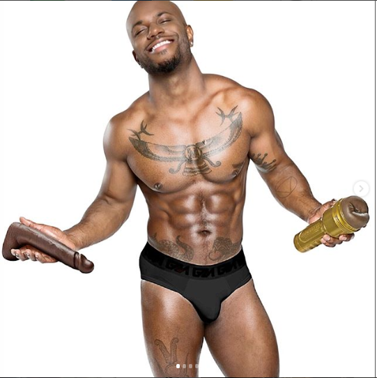 Photos: Shirtless Milan Christopher shows off the life-sized mold of his penis and it