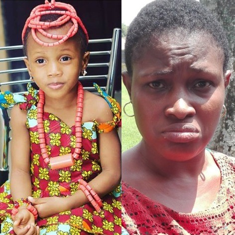 Photo: Orphanage Home proprietress where four year old Elo Ogidi was taken to in Benin city has been arrested