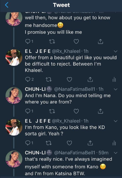 Two Arewa youths flirt on Twitter... See how it ends!