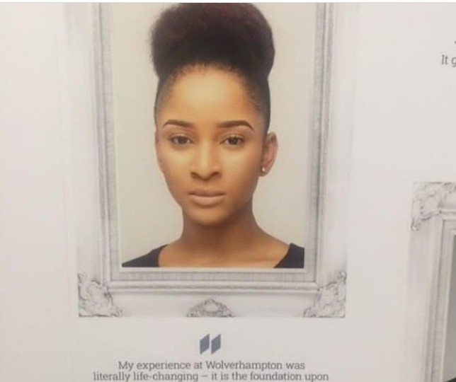 Adesua Etomi goes from being barely able to pay her University school fees to being celebrated by the same University