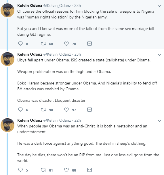 Nigerian man says Barack Obama wrecked Nigeria and explains how he did so